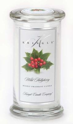 WILD HOLLYBERRY Large Classic 95 Hour Apothecary Jar Candle by Kringle Candles
