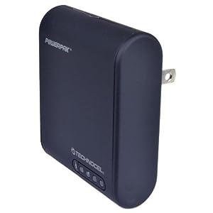 Technocel U8USBTC-CC Universal USB/Car/Travel PowerPak Charger w/Built-in Battery & 11 Adapter Tips