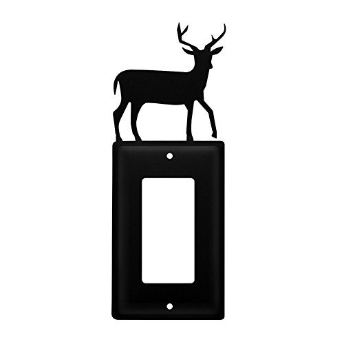 Iron Deer Single Modern Switch Cover - Black Metal