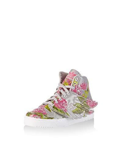 adidas Hightop Sneaker Js Wings Floral grau