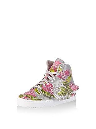 adidas Zapatillas abotinadas Js Wings Floral (Gris)