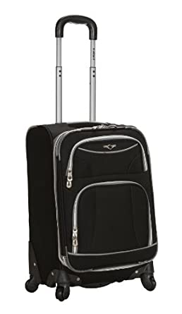 Rockland Luggage 20 Inch Spinner Carry On, Black, One Size