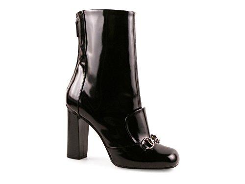 Stivaletti con tacco alto Gucci in vernice nero - Codice modello: 363804 CLG00 1000 - Taglia: 36 IT