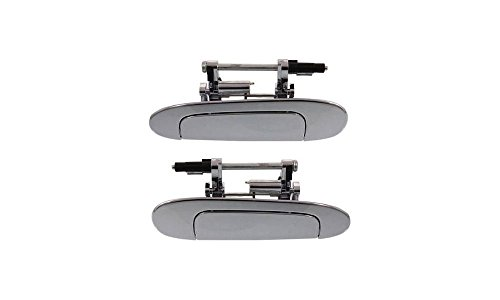 Evan-Fischer EVA18772067424 New Direct Fit Exterior Door Handles Set of 2 Rear Left and Right Side Plastic Chrome for Toyota Echo (Toyota Echo Door Handle compare prices)