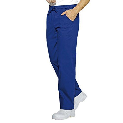 Isacco-Pantaloni da cucina, colore: blu ciano blu L