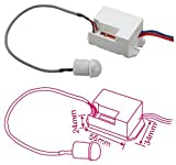 Detector movimiento de empotrar blanco 360º 230V 1200W