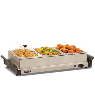 1.5 QT Triple Buffet Server and Warming Tray