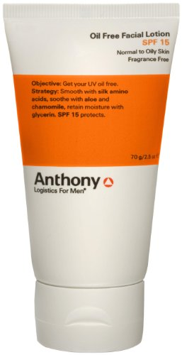 Anthony Logistics for Men Anthony Logistics for Men Oil Free Facial Lotion SPF 15, 2.5 oz.