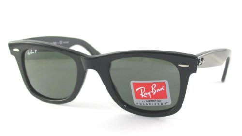 Ray-Ban RB2140 Polarized Original Wayfarer Sunglasses,Black Frame/1.8 Grey Gradient Lens,50 mm