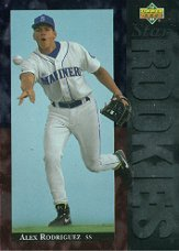 1994 Upper Deck # 24 Alex Rodriguez (RC) - Seattle Mariners - Rookie Baseball Card In Protective Display Case! New York Yankees!