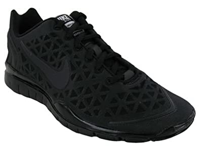 Nike Women's NIKE FREE TR FIT 2 WMNS RUNNING SHOES 11 (BLK/ANTHRCT/MTLLC SILVER/PINK FLS)