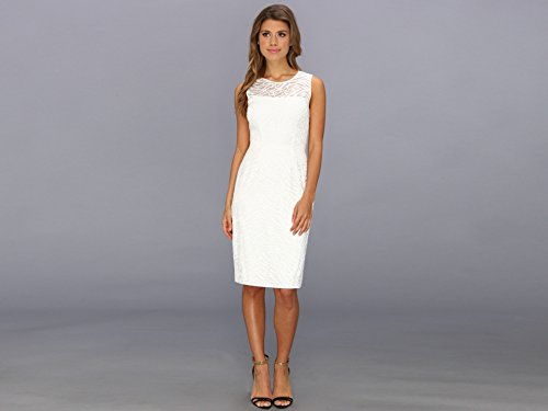 a32c9d44 BCBGMAXAZRIA Women s Alice Embroidered Lace Sheath Dress Off White 6 Reviews