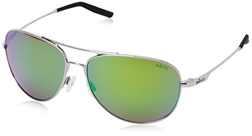 Revo Windspeed Plastic RE 3087 04 GY Polarized Aviator Sunglasses