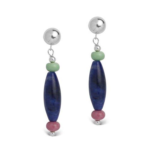 Corazon by Relios Variscite Sodalite & Rhodonite Earrings