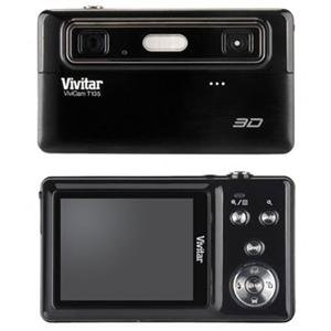 Vivitar Vivicam 3D T135 12.1Mp 4X Digital Zoom Digital Camera Black