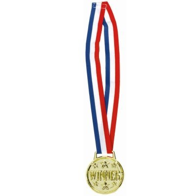 "Jumbo ""Winner"" Award Medal Necklace Party Accessory"