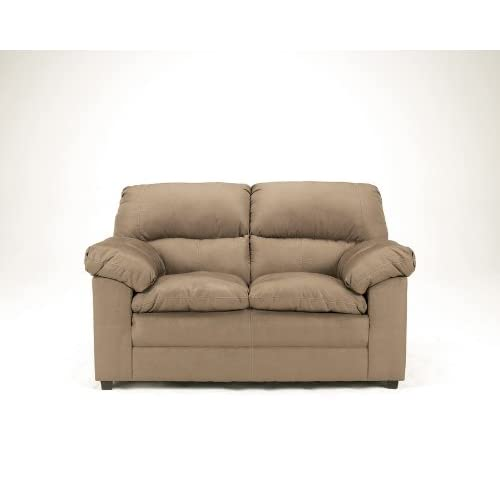 Amazon Mocha Microfiber Loveseat by Ashley Furniture