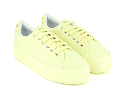 No Name Plato Ice Sneaker, Sneaker modalità Donna, giallo (Vanille Gris), 38 EU
