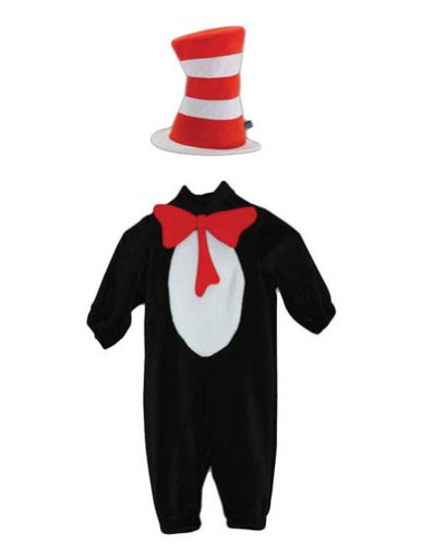 Baby-Toddler-Costume Cat In Hat Toddler Costume 2T-4T Halloween Costume