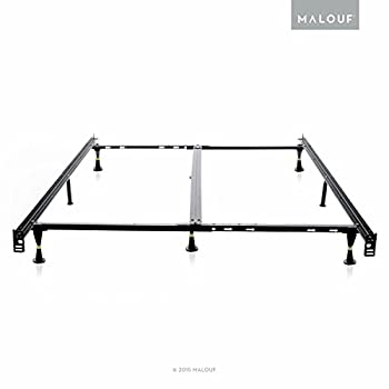 STRUCTURES Low Profile 8-Leg Heavy Duty Adjustable Metal Bed Frame with Glides - Universal Size (Cal King - King - Queen - Full XL - Full - Twin XL - Twin)