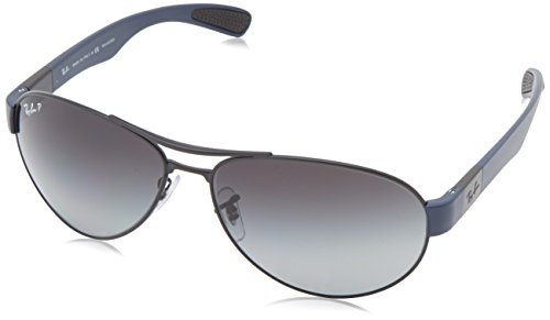 Ray-Ban-RB3509-MATTE-BLACK-Frame-GREY-GRAD-DARK-GREY-POLAR-Lenses-63mm-Polarized