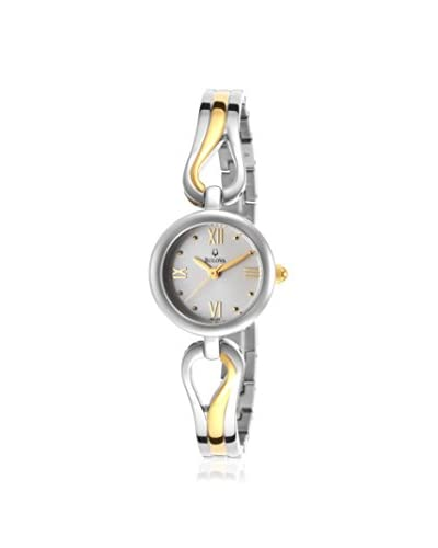 Bulova Women's 98L133 Two-Tone Stainless Steel Bangle Watch As You See