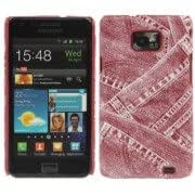 Jeans Style Skinning Plastic Case for Samsung Galaxy S II / i9100 (Red)