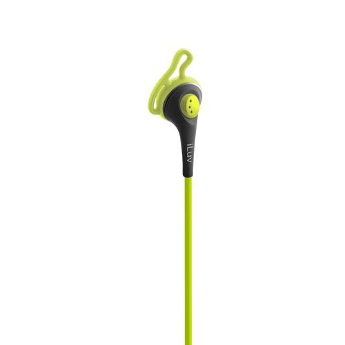 Iluv Iep415Grn Fit Active High Fidelity Sports Earphones With Speak Ez Remote For Ipod/Iphone/Ipad - Green
