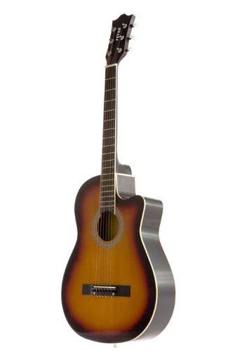 Fever Fv-030C-Sb 3/4 38-Inch Acoustic Cutaway Guitar, Sunburst