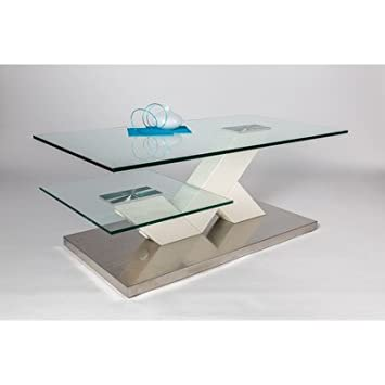 HL Design 01-12-607.1 Michel Table basse en bois Laqué Blanc Mat 110,0 x 60,0 x 44,0 cm