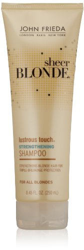 John Frieda Sheer Blonde Lustrous Touch Strengthening Shampoo for All Types of Blonde Hair, 8.45 Ounce