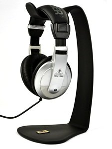 Case Star ® Black Pvc Professional Headphone Stand For Sennheiser Panasonic Sony Hilips Bose + Case Star Cellphone Bag