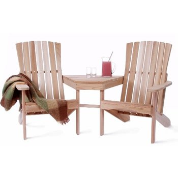 Western Red Cedar - Athena Tete de Tete Loveseat - Furniture For Your Patio and Garden!
