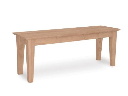 International Concepts BE-47S Shaker Style Bench, Unfinished