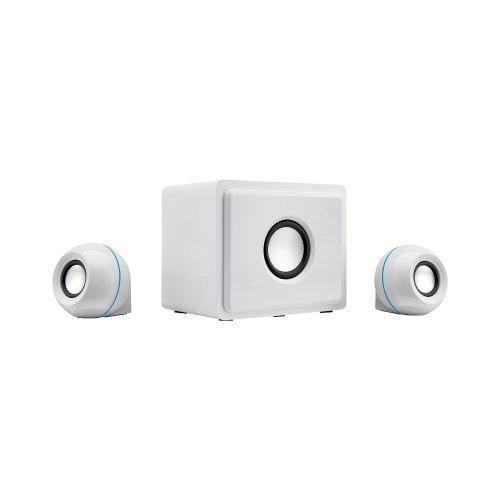 Gpx Ht12W 2.1 Multi-Media Speaker With Subwoofer, White