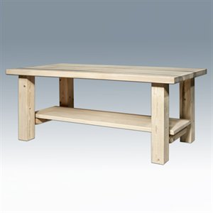 Montana Woodworks Homestead Collection Coffee Table with Shelf, LACQUERED