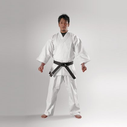 Body maker (BODYMAKER) BB-SPORTS BODYMAKER traditional karate uniform pure white 1, with top and bottom set and white belt 1 FKD1 1FKD1