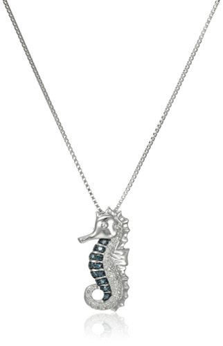 xpy-sterling-silver-green-diamond-seahorse-pendant-necklace-457cm
