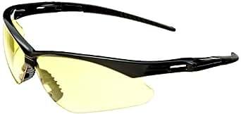 Jackson Safety 25659 V30 Nemesis Safety Glasses, Amber Lenses with Black Frame (Pack of 12)