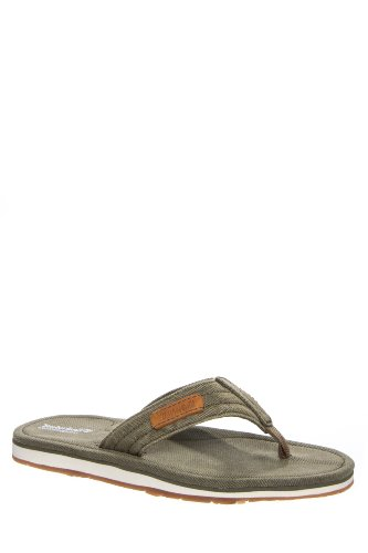 Timberland Men's Earthkeepers Flip Flop Handcrafted Canvas Thong Sandal