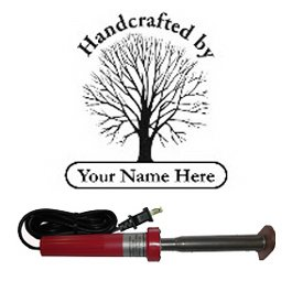 "Branding Iron - Electric Unit Bn-117U ""Handcrafted By..."" Family Tree Design"