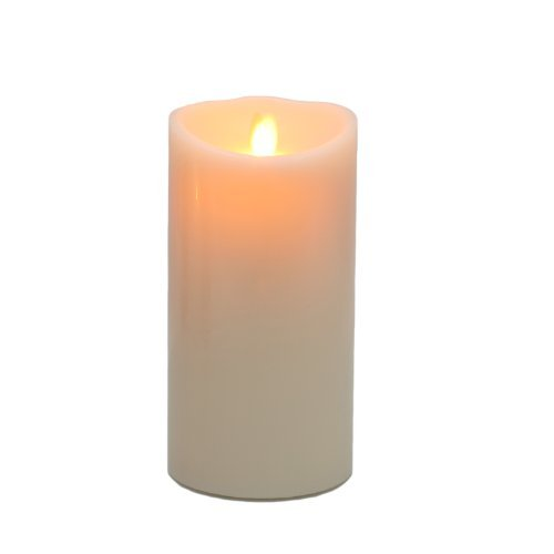 Luminara Ivory Wax Flameless Moving Wick Candle With Timer and Remote - Vanilla Scent , 4 x 9-Inch (Luminara Candles Remote compare prices)