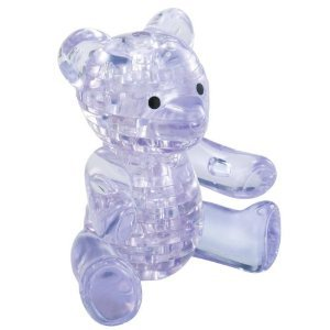 Picture of Beverly Enterprises CRYSTAL PUZZLE Teddy Bear 50112 (B0048GTX2S) (Pegged Puzzles)