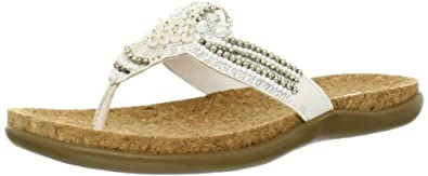 Kenneth Cole REACTION Women's Glam Gal Flip Flop,White,9 M US