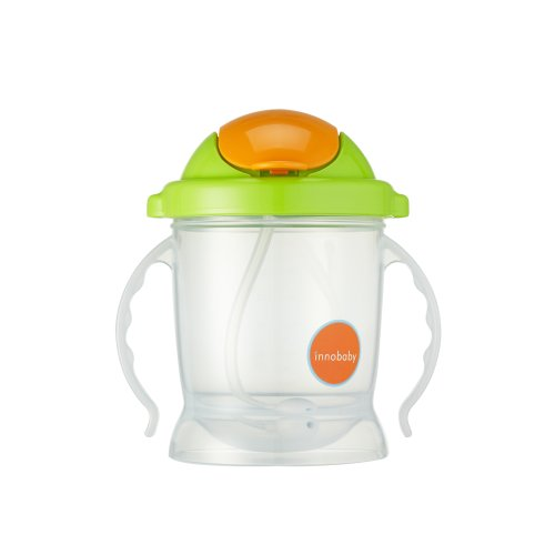 Innobaby Sippin' Smart Ez Flow Straw Sippy Cup, Green, 10 Ounce front-62179