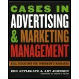 img - for Cases in Advertising & Marketing Management - Real Situations for Tomorrow's Managers (06) by Applegate, Edd - Johnsen, Art [Paperback (2006)] book / textbook / text book
