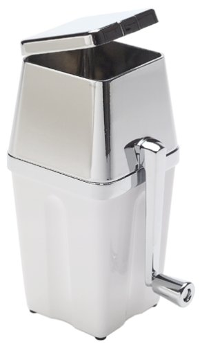 Metrokane Manual Ice Crusher, White/Chrome (Metrokane Ice Crusher compare prices)