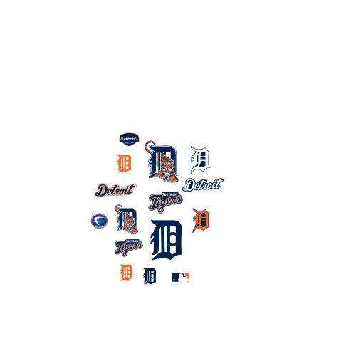 Mlb Detroit Tigers Team Logo Assortment Fathead Jr. Wall Decal front-899044