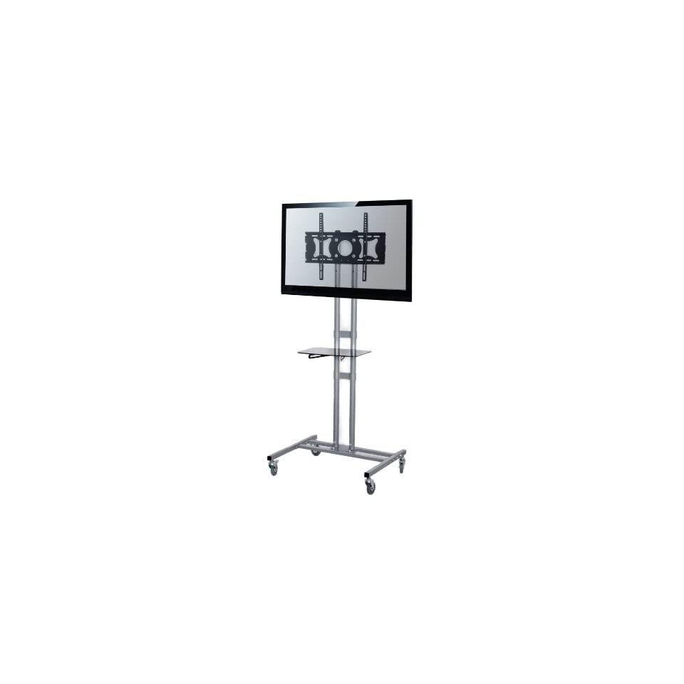 VIVO TV Cart / Stand for LCD, LED, Plasma, Flat Panel TVs with 3 Wheels, mobile fits 32 to 60 with VESA 500x400 (STAND TV01C)