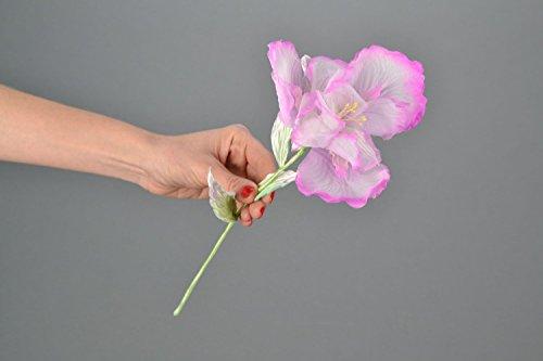 Fleur artificielle iris faite main